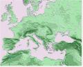 slepá mapa evropy pohoří a řeky